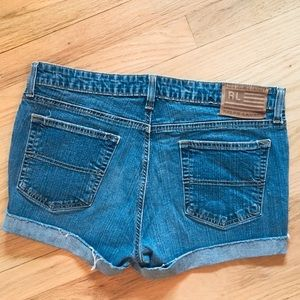 Ralph Lauren rolled raw hem jean shorts 12